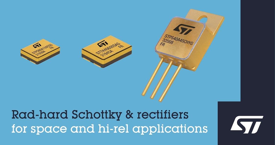 ST Rad hard rectifiers and SEB Schottky IMAGE min