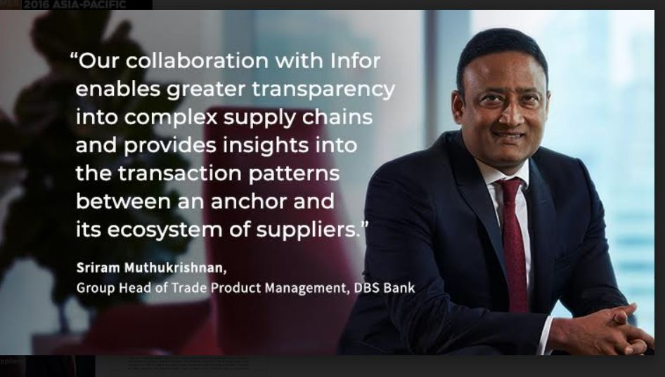 Infor and DBS Bank partner to integrate digital trade financing into global supply chains