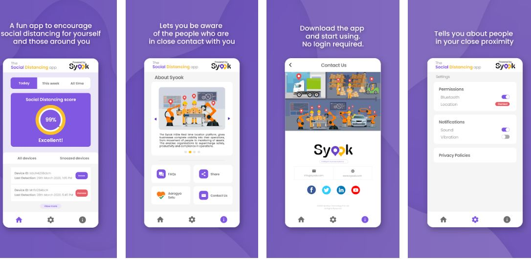 Syook Mobilizes IoT based Social Distancing App