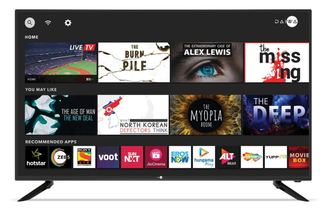 Daiwa Ultra 4K Smart TVs with Android9.0 dbx tv audio and HDR10
