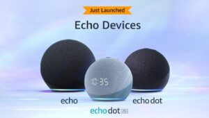 Echo Dot Echo Dot with clock and Echo feature all new spherical designs improved audio quality bass 1