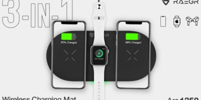 RAEGR launches Arc 1350 3 in 1 Triple Wireless Charging Mat for Phones Apple Watch and Airpod
