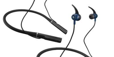 Portronics Harmonics 300 Wireless Sports Headset Black and Blue
