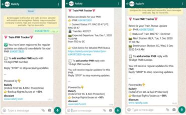 Railofy brings train PNR status to WhatsApp