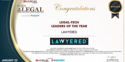 Lawyered wins award for the best Legal Tech Leaders of the Year in 2020