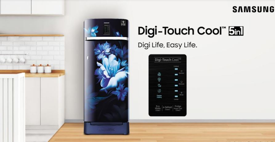 Samsung announces Digi Touch CoolTM 5in1 single door refrigerators