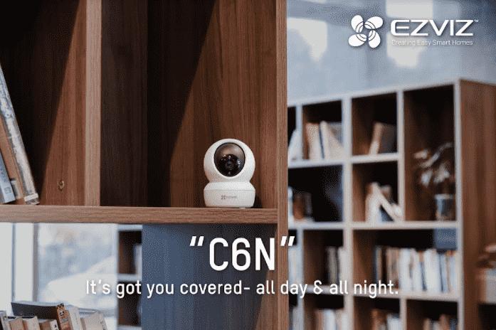 EZVIZ C6N Smart Wi Fi Pan Tilt Indoor Camera