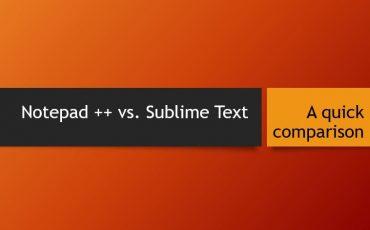 Notepad vs. Sublime Text A quick comparison min