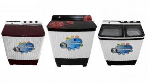 Daiwa launches Designer Toughened Glass Semi Automatic Washing Machines